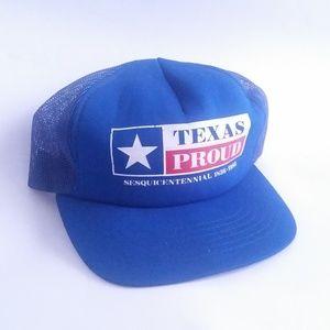 Vintage Texas Hat Trucker Cap Snapback 1986 Proud